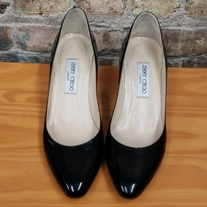 Jimmy Choo black patent leather heels